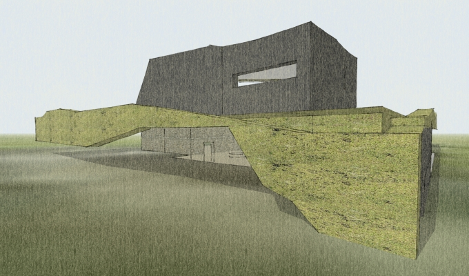 Ansham proposes extending a rural hedgerow onto the elevations of a dwelling to improve a critical birdhabitat.